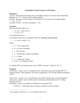 Calculating Envelope Energy Loss Worksheet