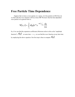 Free Particle Time Dependence