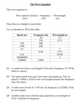 speed frequency wavelength worksheet the best and most comprehensive worksheets. Black Bedroom Furniture Sets. Home Design Ideas