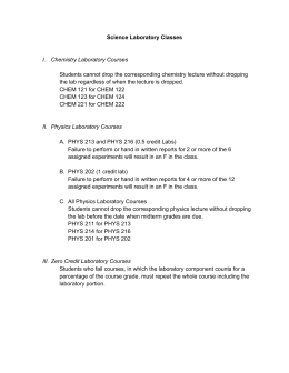 Science Laboratory Classes Chemistry Laboratory Courses