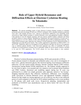 Role of Upper Hybrid Resonance and Diffraction