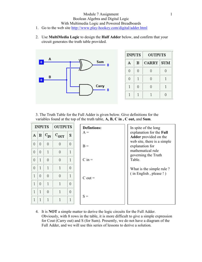 Logic Circuits Gates With Diagram
