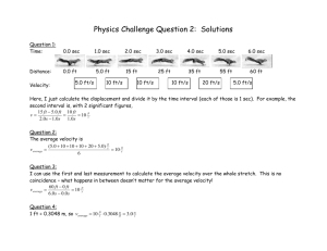 Physics Challenge Question 2: Displacement and velocity