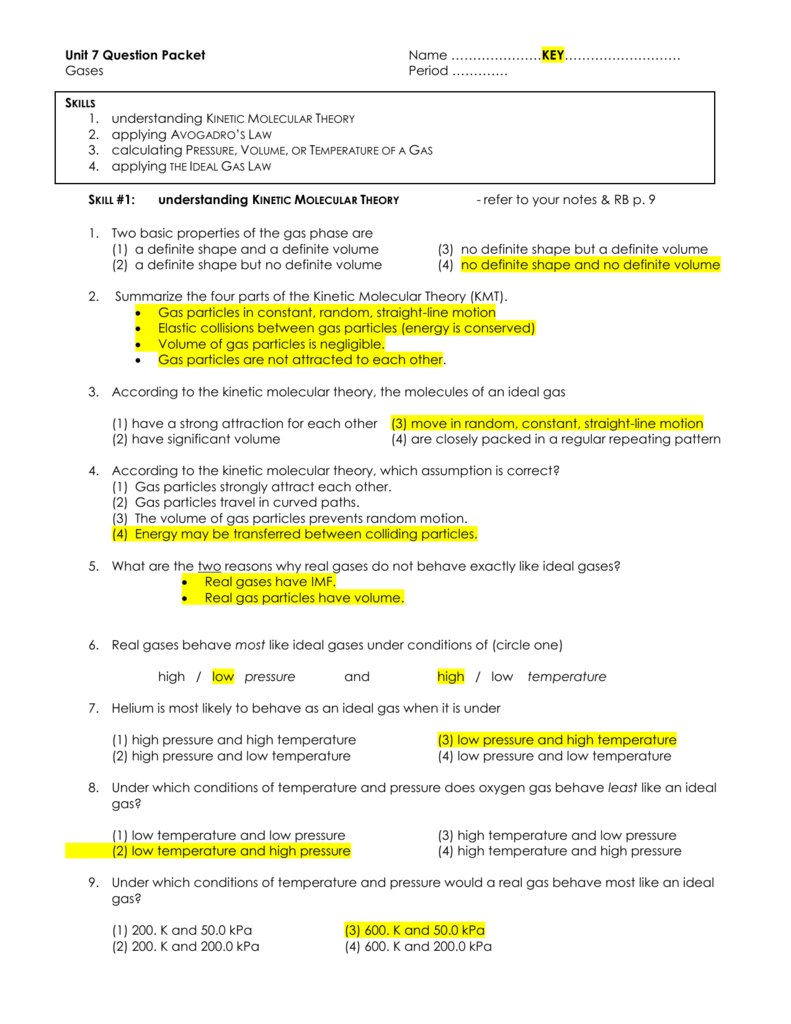answer key for gas laws practice worksheet