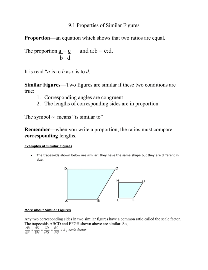 worksheet Similar Figures And Proportions Worksheet properties of similar figures