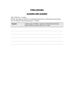 Alkanes and Alkenes 2002 Q17
