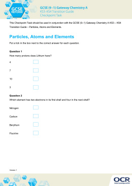 Particles, atoms and elements