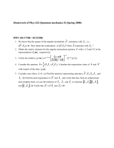 Homework of Phys 621-Quantum mechanics I (Fall 2007)