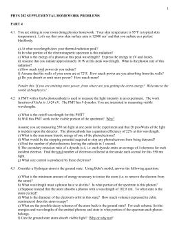 AP Physics 1 Supplemental Problem Sets