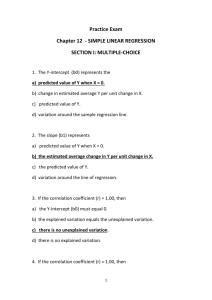 Practice Exam Chapter 12 - SIMPLE LINEAR REGRESSION