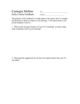 2 question eval form - Carnegie Mellon University