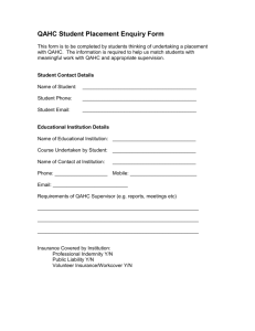 Student Placement Enquiry Form