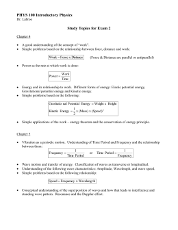 PHYS 100 Introductory Physics