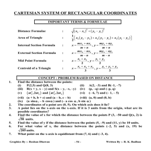 CARTESIAN SYSTEM OF RECTANGULAR COORDINATES