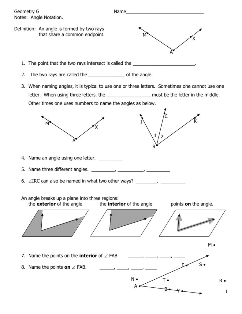 worksheet Complementary Angle Worksheet chapter 3 angles