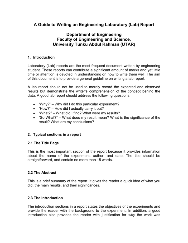 How To Write an Engineering Report   YouTube Scribd Engineering and construction lab report writing Careers in Medical Writing  Writing A Formal Lab Report