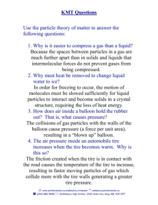 Use the particle theory of matter to answer the following