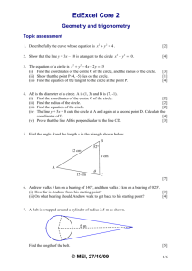 C2 Geometry and Trigonometry + Solutions