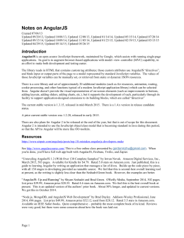 Notes on AngularJS