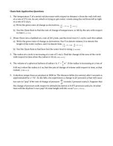 Chain Rule Application Questions