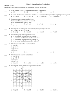 math_9_-_linear_relations_practice_test