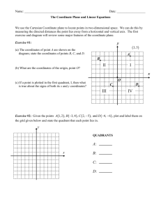 The Coordinate Plane and Linear Equations