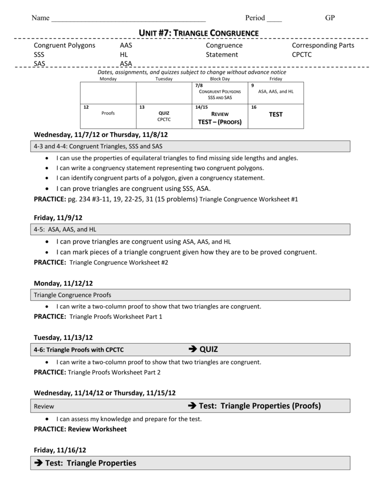 Triangle Congruence 2 – Cpctc Worksheet