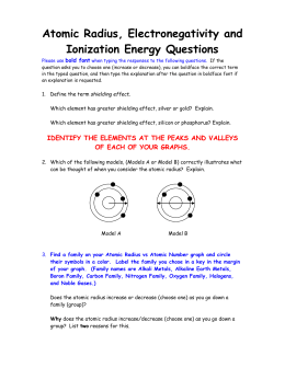 Atomic Radius and Electronegativity Questions