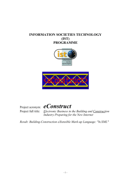 E-Construct - The XML Cover Pages