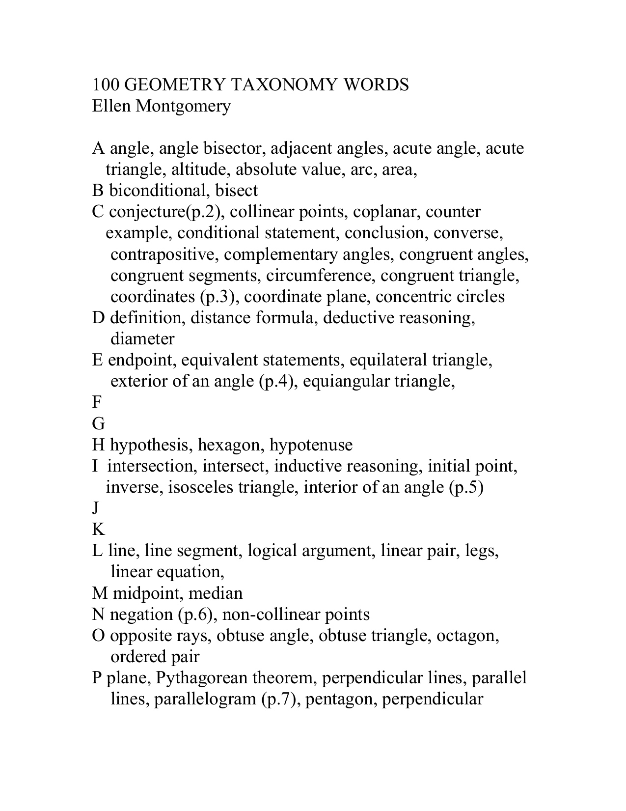 100 geometry taxonomy words biocorpaavc Image collections