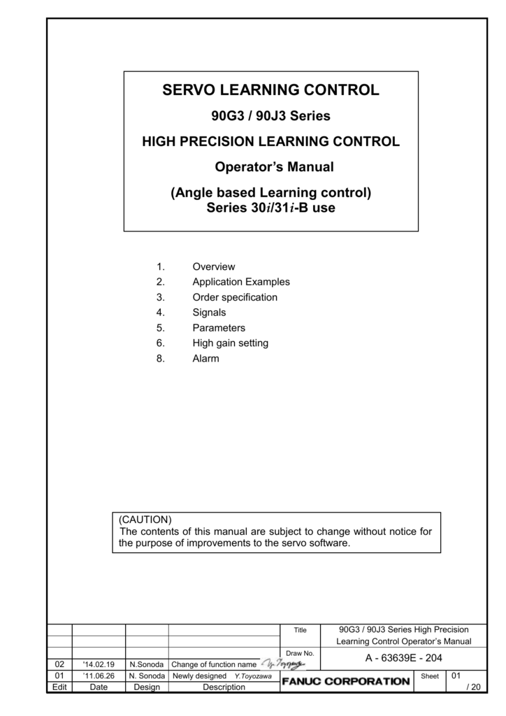 Angle based Learning control manual