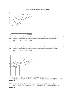 Micro Chapter 21 Practice Problems 2 Key