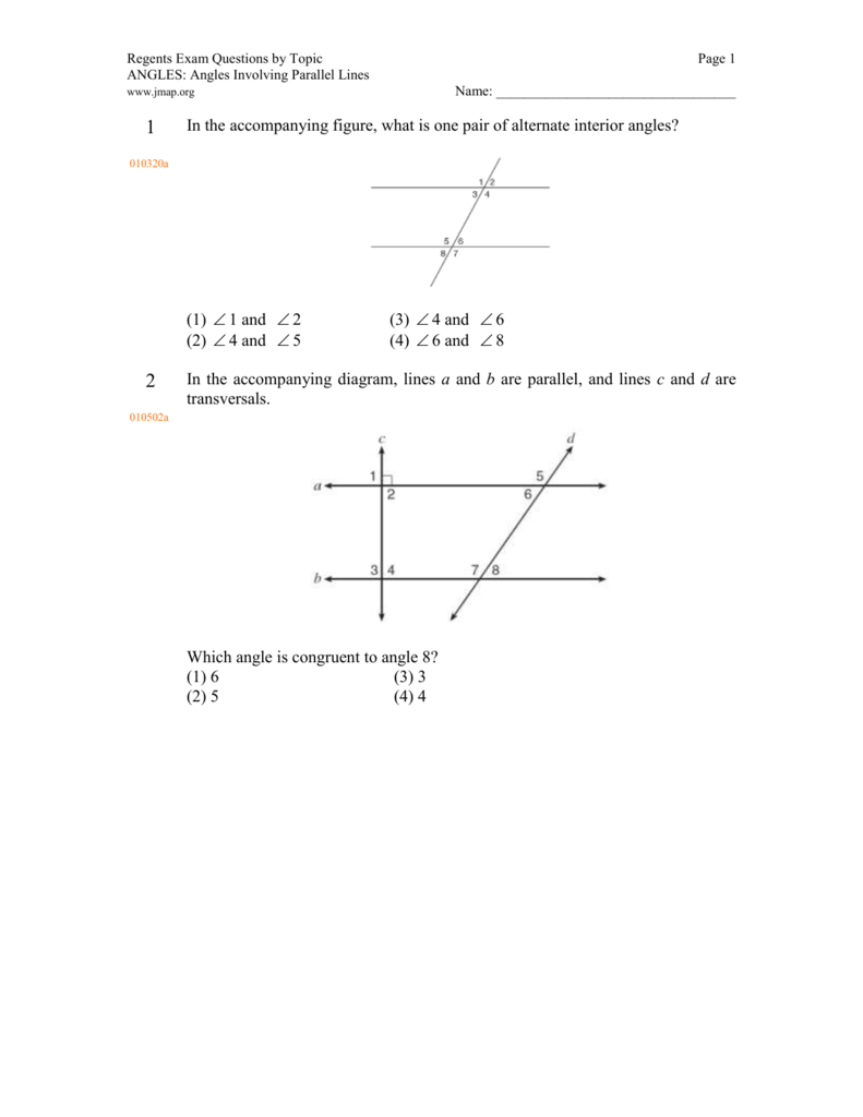 100 parallel and transversal worksheet math plane parallel and transversal worksheet jmap worksheets by topic angles angles involving parallel lines robcynllc Choice Image