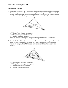 Properties of Triangles Instructions (Word Format)