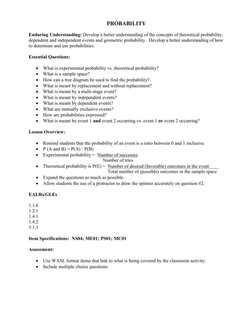 worksheet Theoretical Probability Worksheet worksheet 2 theoretical probability