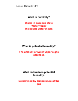 TR Oral Flash Cards for Aerosol-Humidity-CPT
