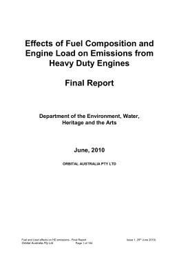 Effects of Fuel Composition and Engine Load on Emissions from
