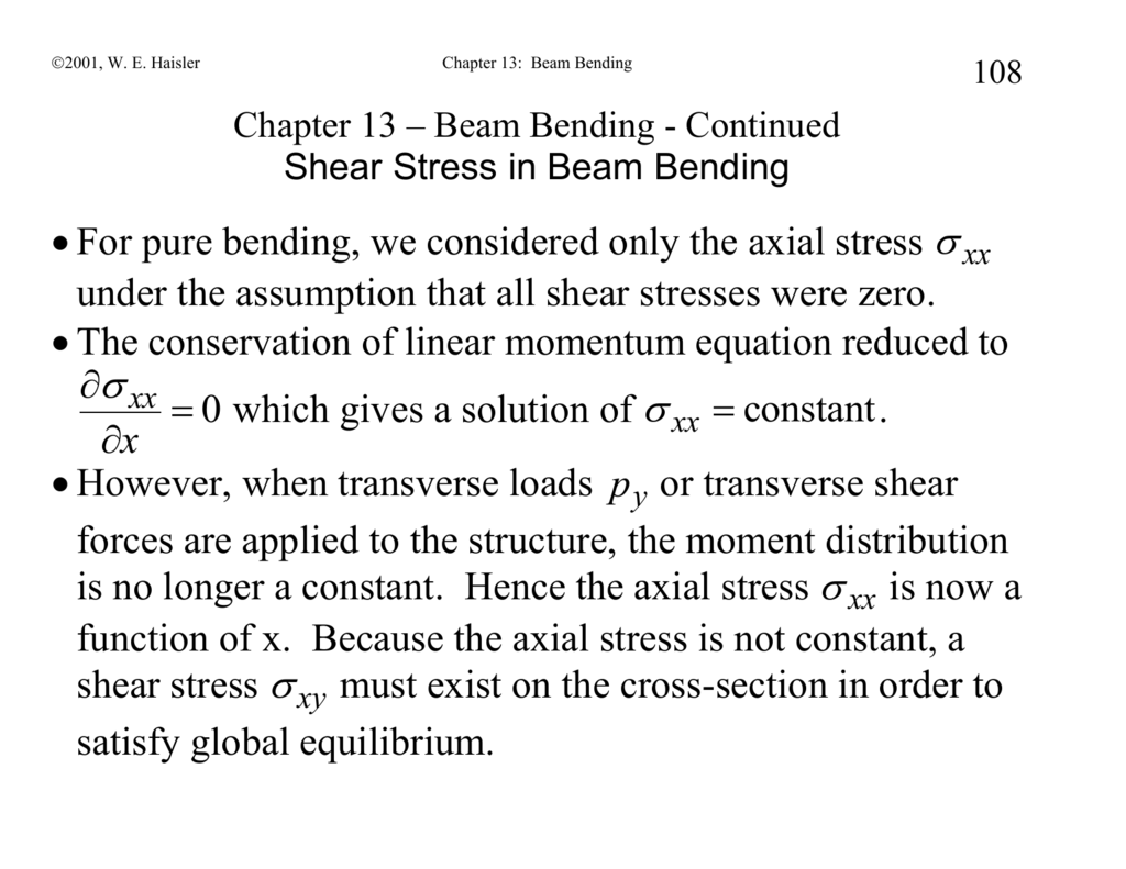 Chapter 13 Tutorial On How To Calculate Shear Force In Beams Bending