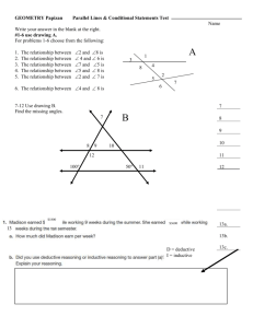 GEOMETRY Papizan Parallel Lines & Conditional Statements Test