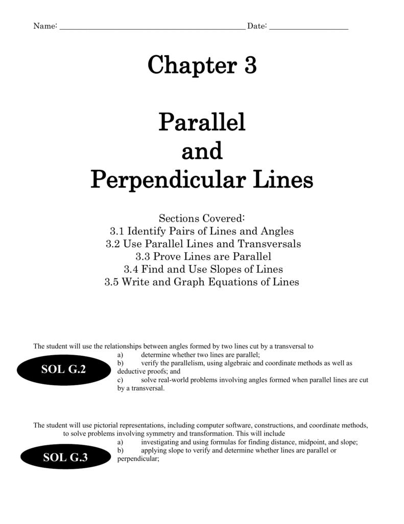 Geometry – Proving Lines Parallel Worksheet