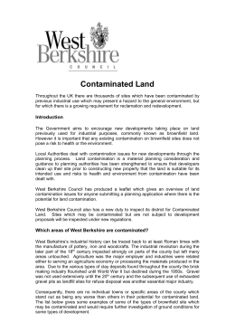 Contaminated Land - West Berkshire Council