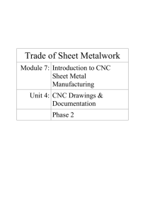 Module 7 – Introduction to CNC Sheet Metal Manufacturing