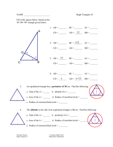 Right Triangle Worksheet 2