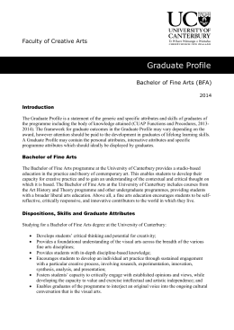 Bachelor of Fine Arts - University of Canterbury