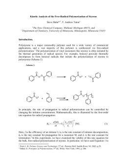 Kinetic Analysis of the Free-Radical Polymerization of Styrene