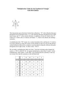 Multiplication Table for the Equilateral Triangle