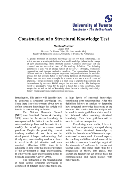 Construction of a Structural Knowledge Test