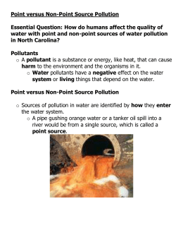 Point versus Non-Point Source Pollution