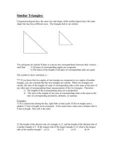 Similar Triangles: