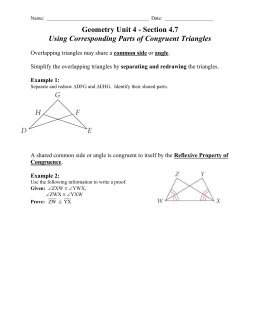 4-7 Using Corresponding Parts of Congruent Triangles